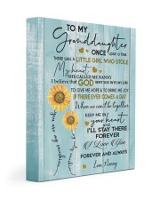 I LOVE YOU - GRANDDAUGHTER GIFT WITH SUNFLOWER 11x14 Gallery Wrapped Canvas Prints front