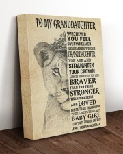 STRAIGHTEN YOUR CROWN - GIFT FOR GRANDDAUGHTER  11x14 Gallery Wrapped Canvas Prints aos-canvas-pgw-11x14-lifestyle-front-17