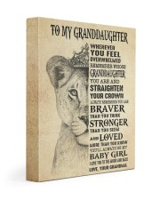 STRAIGHTEN YOUR CROWN - GIFT FOR GRANDDAUGHTER  11x14 Gallery Wrapped Canvas Prints front