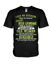 I GET MY ATTITUDE - LOVELY GIFT FOR GRANDDAUGHTER V-Neck T-Shirt tile