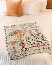 "KEEP ME IN YOUR HEART - GRANDMA TO GRANDDAUGHTER Small Fleece Blanket - 30"" x 40"" aos-coral-fleece-blanket-30x40-lifestyle-front-01"