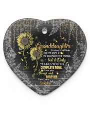 YOU ARE MY SUNSHINE - BEST GIFT FOR GRANDDAUGHTER  Heart ornament - single (porcelain) front