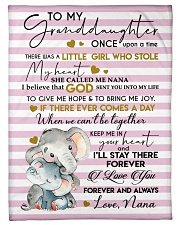 """I LOVE YOU - SPECIAL GIFT FOR GRANDDAUGHTER Small Fleece Blanket - 30"""" x 40"""" front"""