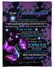 """AND LOVE LIFE - GRANDDAUGHTER GIFT WITH BUTTERFLY Small Fleece Blanket - 30"""" x 40"""" front"""