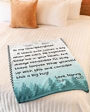 "CONSIDER THIS A BIG HUG - NANNY TO GRANDDAUGHTER Small Fleece Blanket - 30"" x 40"" aos-coral-fleece-blanket-30x40-lifestyle-front-01"