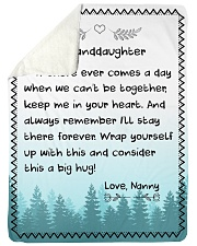 "CONSIDER THIS A BIG HUG - NANNY TO GRANDDAUGHTER Large Sherpa Fleece Blanket - 60"" x 80"" thumbnail"