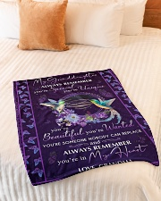 """YOU'RE IN MY HEART - GREAT GIFT FOR GRANDDAUGHTER Small Fleece Blanket - 30"""" x 40"""" aos-coral-fleece-blanket-30x40-lifestyle-front-01"""