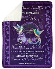 """YOU'RE IN MY HEART - GREAT GIFT FOR GRANDDAUGHTER Large Sherpa Fleece Blanket - 60"""" x 80"""" thumbnail"""