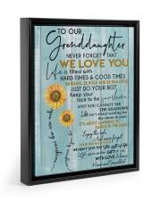 JUST DO YOUR BEST - GREAT GIFT FOR GRANDDAUGHTER Floating Framed Canvas Prints Black tile