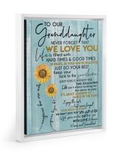 JUST DO YOUR BEST - GREAT GIFT FOR GRANDDAUGHTER Floating Framed Canvas Prints White tile