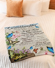 """WILL NEVER LOSE - FROM GRANDMA TO MY GRANDDAUGHTER Small Fleece Blanket - 30"""" x 40"""" aos-coral-fleece-blanket-30x40-lifestyle-front-01"""