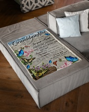 """WILL NEVER LOSE - FROM GRANDMA TO MY GRANDDAUGHTER Small Fleece Blanket - 30"""" x 40"""" aos-coral-fleece-blanket-30x40-lifestyle-front-03"""