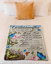 """WILL NEVER LOSE - FROM GRANDMA TO MY GRANDDAUGHTER Small Fleece Blanket - 30"""" x 40"""" aos-coral-fleece-blanket-30x40-lifestyle-front-04"""