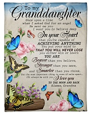 """WILL NEVER LOSE - FROM GRANDMA TO MY GRANDDAUGHTER Small Fleece Blanket - 30"""" x 40"""" front"""