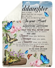 """WILL NEVER LOSE - FROM GRANDMA TO MY GRANDDAUGHTER Large Sherpa Fleece Blanket - 60"""" x 80"""" thumbnail"""