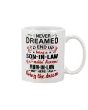 LIVING THE DREAM - LOVELY GIFT FOR SON-IN-LAW Mug tile