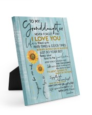 I LOVE YOU - BEST GIFT FOR GRANDDAUGHTER 8x10 Easel-Back Gallery Wrapped Canvas thumbnail