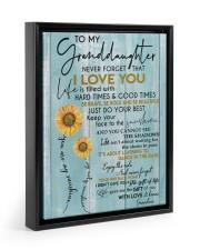 I LOVE YOU - BEST GIFT FOR GRANDDAUGHTER 11x14 Black Floating Framed Canvas Prints thumbnail