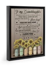 YOUR WAY BACK HOME - TO GRANDDAUGHTER FROM GRANDMA Floating Framed Canvas Prints Black tile