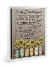YOUR WAY BACK HOME - TO GRANDDAUGHTER FROM GRANDMA Floating Framed Canvas Prints White tile