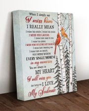 WHEN I SIMPLY SAY I MISS HIM 11x14 Gallery Wrapped Canvas Prints aos-canvas-pgw-11x14-lifestyle-front-17
