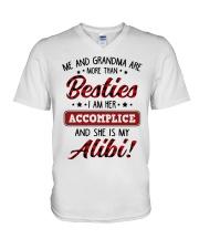 SHE IS MY ALIBI - GREAT GIFT FOR GRANDSON V-Neck T-Shirt tile