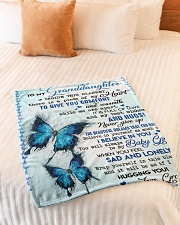 """TO GIVE YOU COMFORT - GREAT GIFT FOR GRANDDAUGHTER Small Fleece Blanket - 30"""" x 40"""" aos-coral-fleece-blanket-30x40-lifestyle-front-01"""