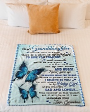 """TO GIVE YOU COMFORT - GREAT GIFT FOR GRANDDAUGHTER Small Fleece Blanket - 30"""" x 40"""" aos-coral-fleece-blanket-30x40-lifestyle-front-04"""