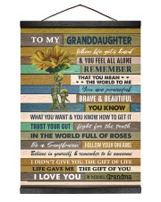 BELIEVE IN YOURSELF - GRANDMA TO GRANDDAUGHTER  12x16 Black Hanging Canvas thumbnail