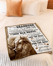 """BELIEVE IN YOURSELF - GREAT GIFT FOR GRANDSON Small Fleece Blanket - 30"""" x 40"""" aos-coral-fleece-blanket-30x40-lifestyle-front-01"""