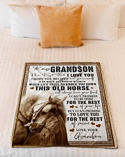 """BELIEVE IN YOURSELF - GREAT GIFT FOR GRANDSON Small Fleece Blanket - 30"""" x 40"""" aos-coral-fleece-blanket-30x40-lifestyle-front-04"""