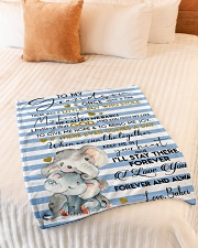 """KEEP ME IN YOUR HEART - BEST GIFT FOR GRANDSON Small Fleece Blanket - 30"""" x 40"""" aos-coral-fleece-blanket-30x40-lifestyle-front-01"""