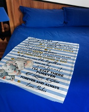 """KEEP ME IN YOUR HEART - BEST GIFT FOR GRANDSON Small Fleece Blanket - 30"""" x 40"""" aos-coral-fleece-blanket-30x40-lifestyle-front-02"""