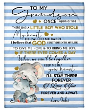 """KEEP ME IN YOUR HEART - BEST GIFT FOR GRANDSON Small Fleece Blanket - 30"""" x 40"""" front"""