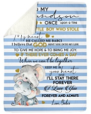 """KEEP ME IN YOUR HEART - BEST GIFT FOR GRANDSON Large Sherpa Fleece Blanket - 60"""" x 80"""" thumbnail"""