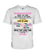 I'LL BE HUGGING YOU - BEST GIFT FOR GRANDDAUGHTER V-Neck T-Shirt tile