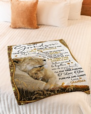 """I LOVE YOU - LOVELY GIFT FOR GRANDSON FROM GRANDMA Small Fleece Blanket - 30"""" x 40"""" aos-coral-fleece-blanket-30x40-lifestyle-front-01"""