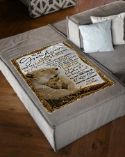 """I LOVE YOU - LOVELY GIFT FOR GRANDSON FROM GRANDMA Small Fleece Blanket - 30"""" x 40"""" aos-coral-fleece-blanket-30x40-lifestyle-front-03"""