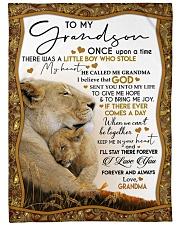 I LOVE YOU - LOVELY GIFT FOR GRANDSON FROM GRANDMA Fleece Blanket tile