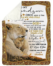 I LOVE YOU - LOVELY GIFT FOR GRANDSON FROM GRANDMA Sherpa Fleece Blanket tile
