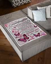 """I BELIEVE IN YOU - OMA TO GRANDDAUGHTER Small Fleece Blanket - 30"""" x 40"""" aos-coral-fleece-blanket-30x40-lifestyle-front-03"""