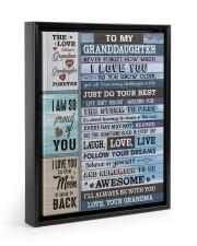 FOLLOW YOUR DREAMS - BEST GIFT FOR GRANDDAUGHTER Floating Framed Canvas Prints Black tile