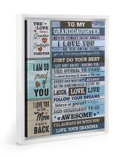 FOLLOW YOUR DREAMS - BEST GIFT FOR GRANDDAUGHTER Floating Framed Canvas Prints White tile