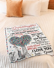 """I LOVE YOU - GIFT FROM GRANDMA TO GRANDDAUGHTER Small Fleece Blanket - 30"""" x 40"""" aos-coral-fleece-blanket-30x40-lifestyle-front-01"""