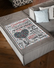 """I LOVE YOU - GIFT FROM GRANDMA TO GRANDDAUGHTER Small Fleece Blanket - 30"""" x 40"""" aos-coral-fleece-blanket-30x40-lifestyle-front-03"""