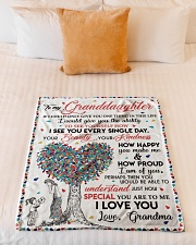 """I LOVE YOU - GIFT FROM GRANDMA TO GRANDDAUGHTER Small Fleece Blanket - 30"""" x 40"""" aos-coral-fleece-blanket-30x40-lifestyle-front-04"""