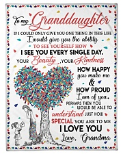 """I LOVE YOU - GIFT FROM GRANDMA TO GRANDDAUGHTER Small Fleece Blanket - 30"""" x 40"""" front"""