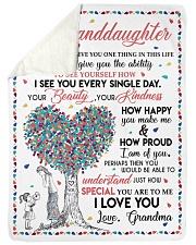 I LOVE YOU - GIFT FROM GRANDMA TO GRANDDAUGHTER Sherpa Fleece Blanket tile