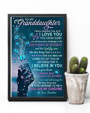 I LOVE YOU - LOVELY GIFT FOR GRANDDAUGHTER 11x17 Poster lifestyle-poster-8