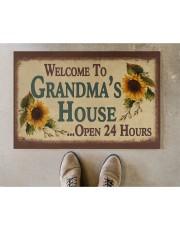 """WELCOME TO GRANDMA'S HOUSE OPEN 24 HOURS Doormat 22.5"""" x 15""""  aos-doormat-22-5x15-lifestyle-front-04"""